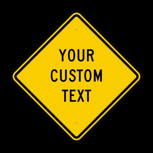"30"" Diamond Custom Sign"