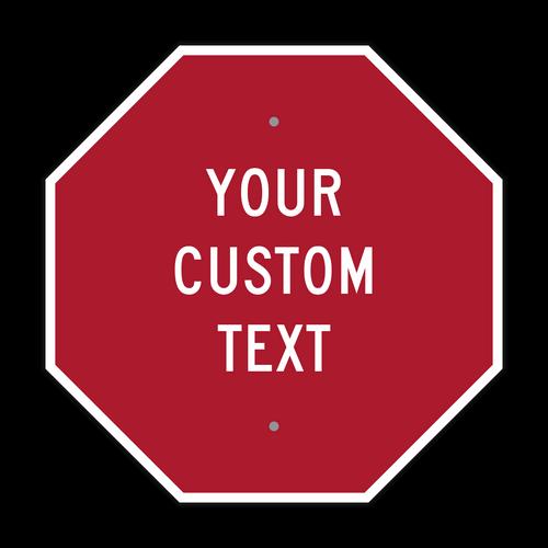 "18"" Octagon Custom Sign"