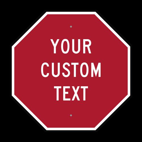 "24"" Octagon Custom Sign"