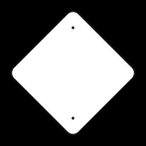 "12"" Diamond Painted Aluminum Sign Blank"