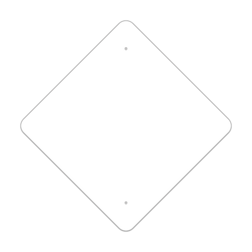"24"" Diamond Painted Aluminum Sign Blank"