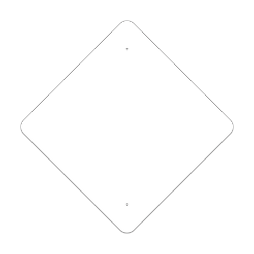 "30"" Diamond Painted Aluminum Sign Blank"