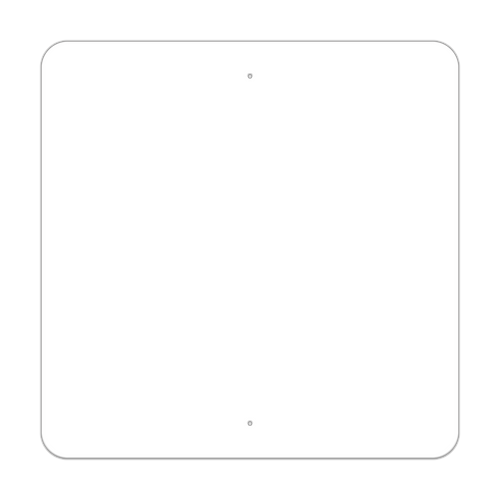 """36"""" Square Painted Aluminum Sign Blank"""