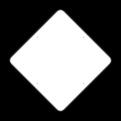 "48"" Diamond Painted Aluminum Sign Blank"