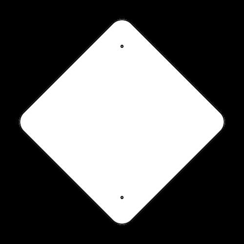 """18"""" Diamond Non-Reflective Sign Blank"""