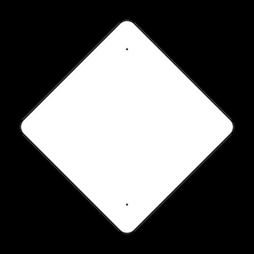 """30"""" Diamond Non-Reflective Sign Blank"""