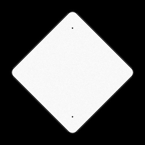 "24"" Diamond Reflective Sign Blank"