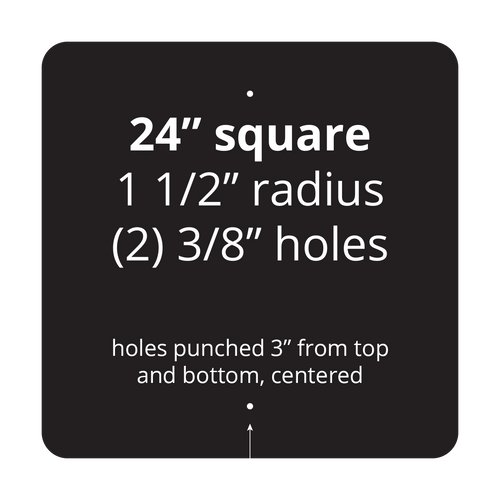 """24"""" Square Reflective Sign Blank"""