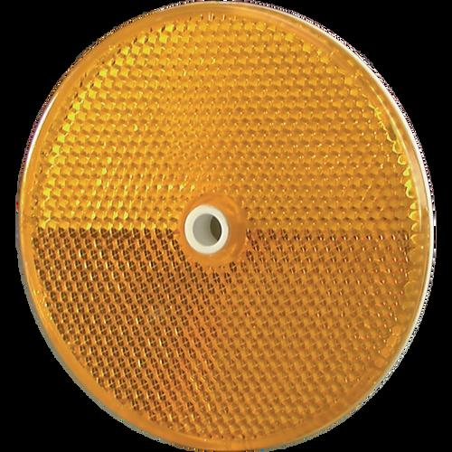 """3 1/4"""" Plastic Delineator Button - Amber"""