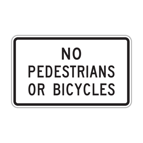 R5-10b No Pedestrians or Bicycles