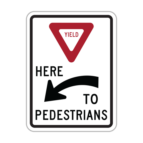 R1-5a Yield Here to Pedestrians
