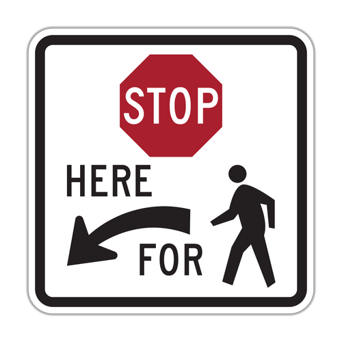 R1-5b Stop Here for Pedestrians