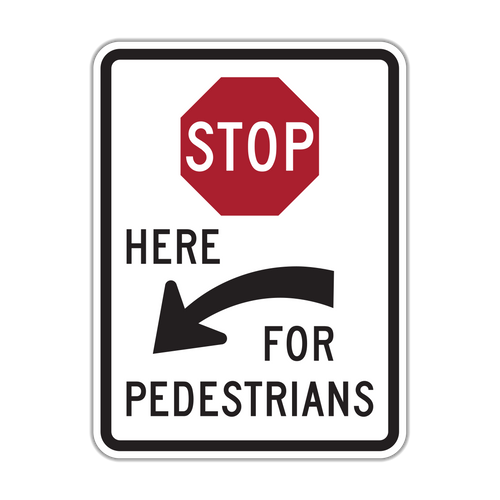 R1-5c Stop Here for Pedestrians