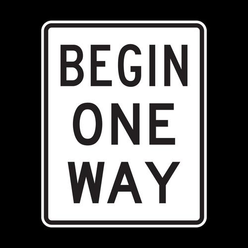 R6-6 Begin One Way