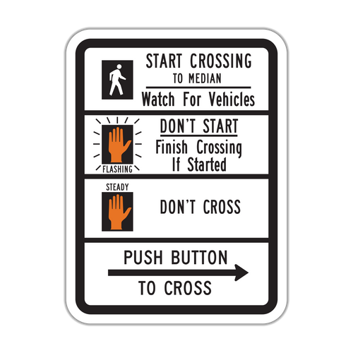 R10-3d Push Button to Cross