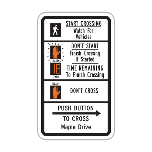 R10-3i Push Button to Cross Street