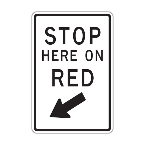 R10-6 Stop Here on Red
