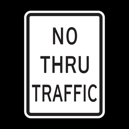 HR10-9 No Thru Traffic