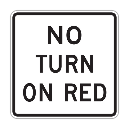 R10-11b No Turn on Red