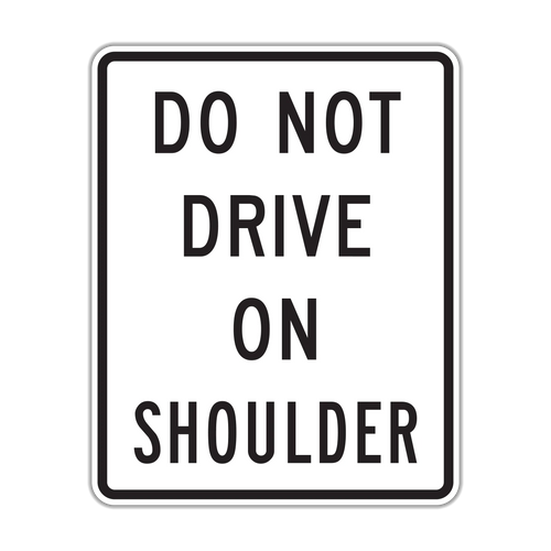 R4-17 Do Not Drive on Shoulder