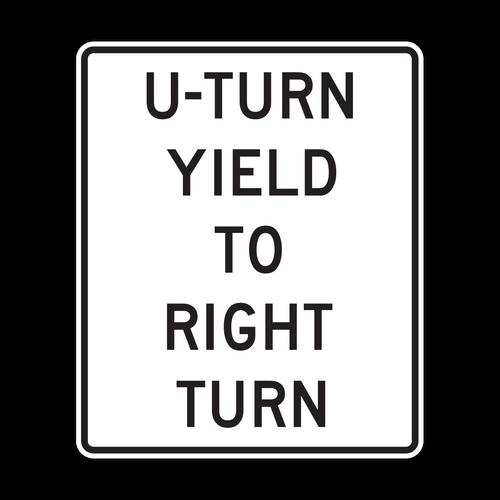 R10-16 U Turn Yield to Right Turn