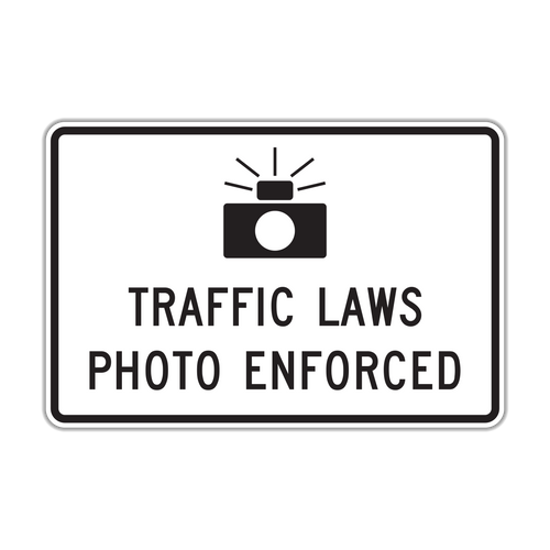 R10-18 Traffic Laws Photo Enforced