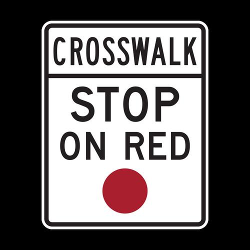 R10-23 Crosswalk Stop on Red
