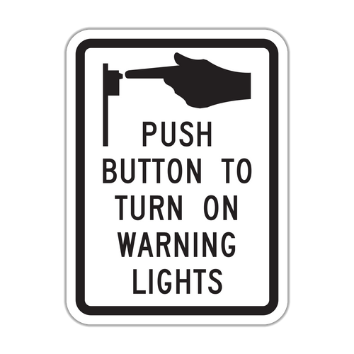 R10-25 Push Button to Turn on Warning