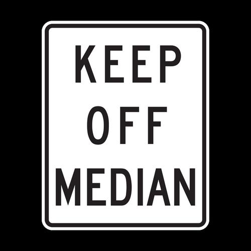 R11-1 Keep Off Median