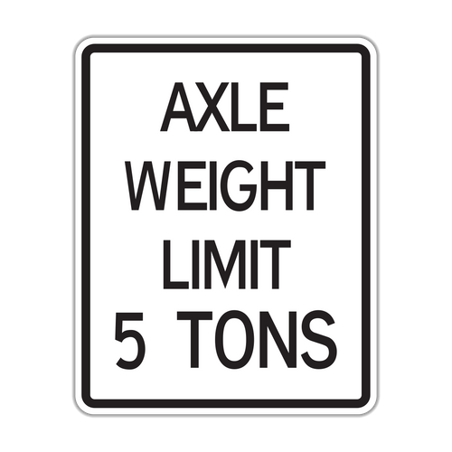 R12-2 Axle Weight Limit X Tons