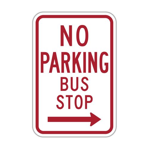 R7-7 No Parking Bus Stop
