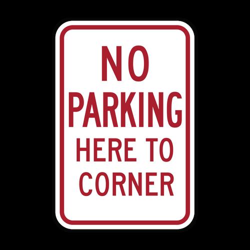 HR7-11 No Parking Here to Corner