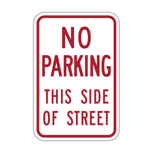 HR7-13 No Parking This Side of Street