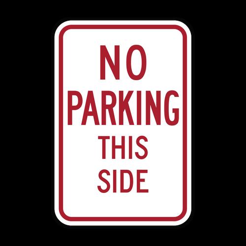 HR7-13m No Parking This Side