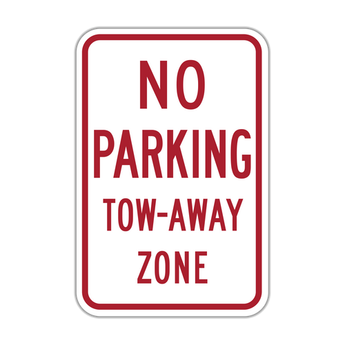 HR7-20 No Parking Tow-Away Zone