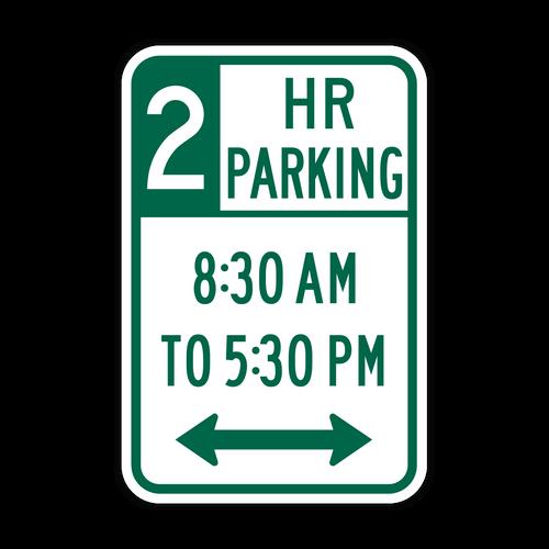 R7-108 XX Hour Parking x:xx AM to x:xx PM