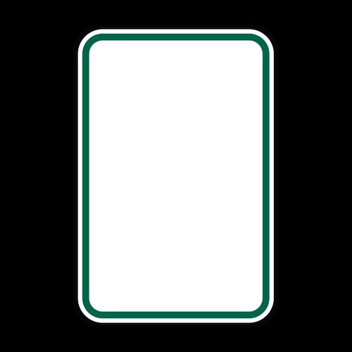 HR7-113 Green Border on White
