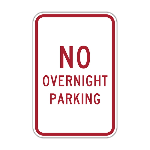 NOP No Overnight Parking