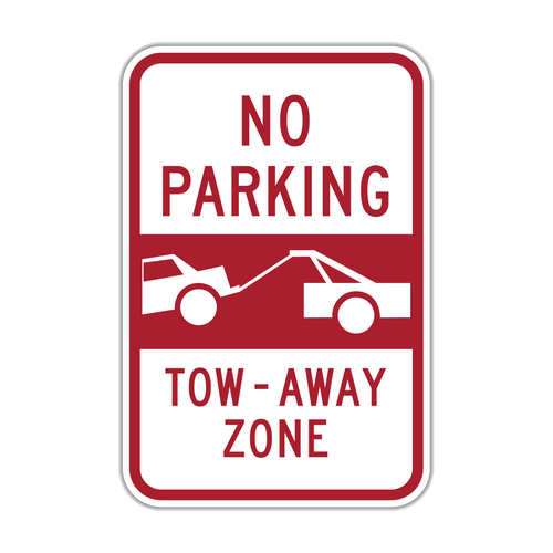 NPT No Parking Tow-Away Zone