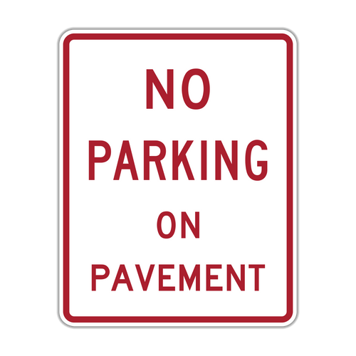 R8-1 No Parking on Pavement