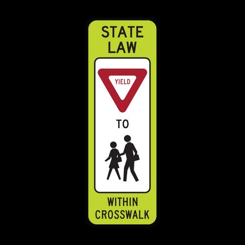R1-6b In-Street Schoolchildren Crossing