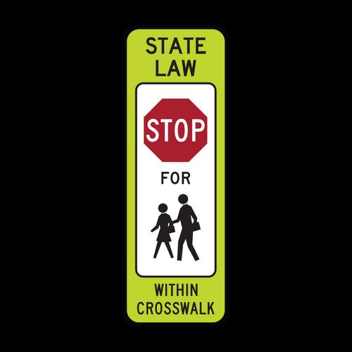 R1-6c In-Street Schoolchildren Crossing