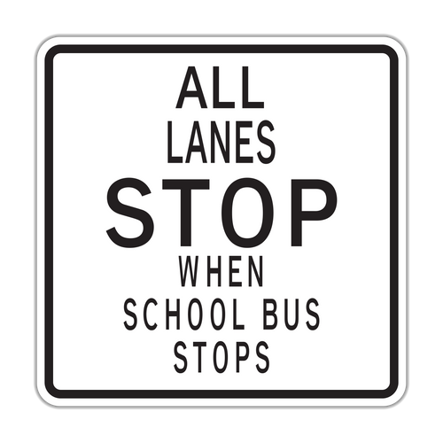 HR5-12 All Lanes Stop When School Bus Stops