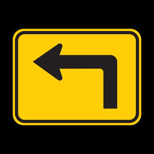 W16-6P Advance Turn Arrow