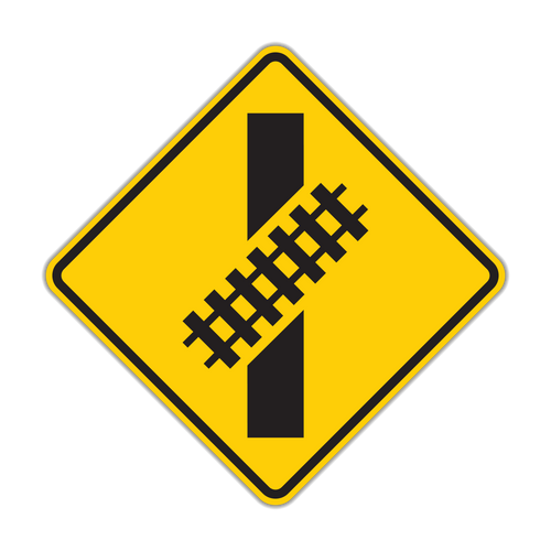 W10-12 Skewed Crossing