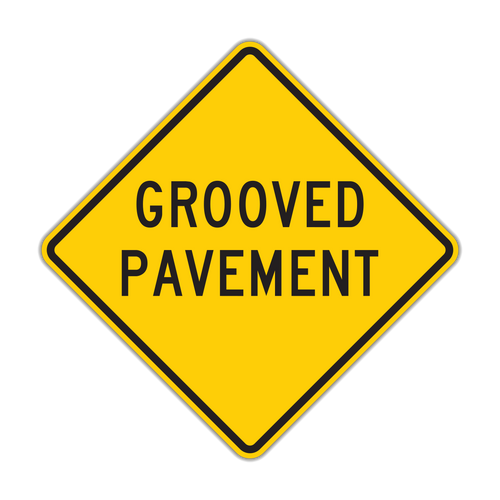 W8-15 Grooved Pavement