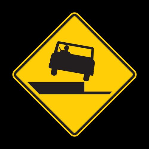 W8-17 Shoulder Drop-Off