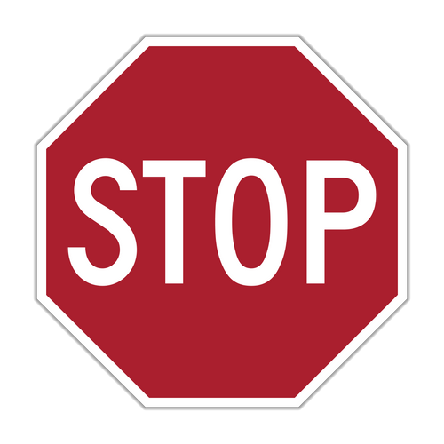 """12"""" R1-1 Stop"""