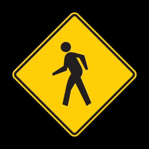 W11-2 Pedestrian Crossing