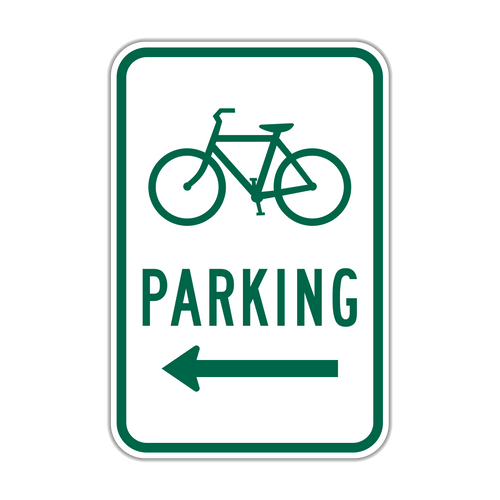"""9"""" x 12"""" D4-3 Bicycle Parking Area"""
